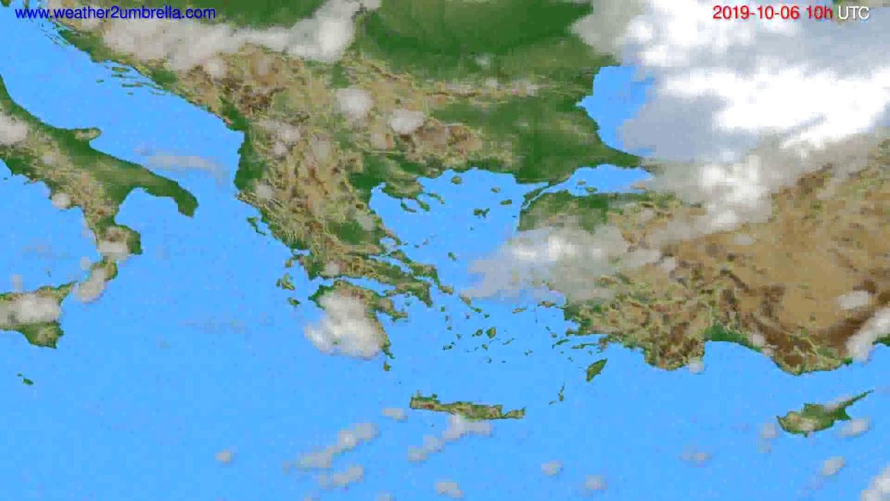 Cloud forecast Greece // modelrun: 00h UTC 2019-10-04