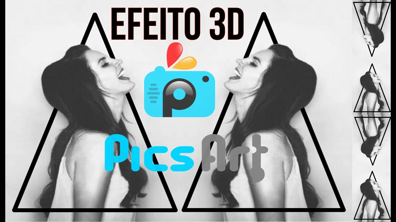 Efeito 3D na foto com o Pics Art