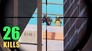 SECRET PLACE TO KILL TOWER CAMPERS | 26 KILLS SOLO VS SQUAD | PUBG MOBILE