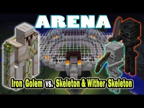 Minecraft Arena Battle Iron Golem vs. Skeleton & Wither Skeleton