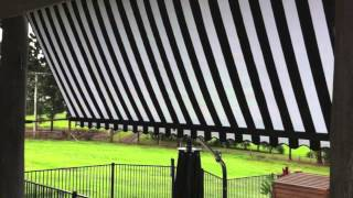 Auto Guide Arm Fabric Awning