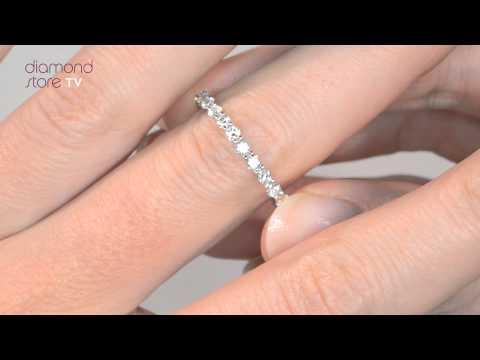 HG34-322 - 1ct Diamond Chloe Full Eternity Ring In 18K Gold