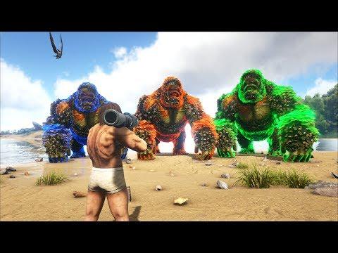 ARK: Survival Evolved - 3 Anh Em Nhà Tinh Tinh Khổng Lồ =))