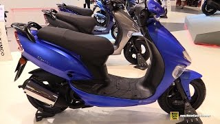 4. 2016 Kymco Vitality 50 2T Scooter - Walkaround - 2015 Salon de la Moto Paris