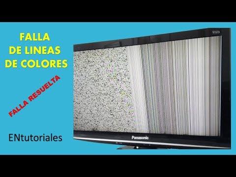 pantalla con rayas, y franjas de colores, falla común en pantallas LED, electrónica nuñez,