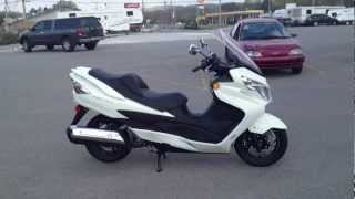 7. 2012 Suzuki Burgman 400 ABS in Pearl Mirage White at Tommy's MotorSports