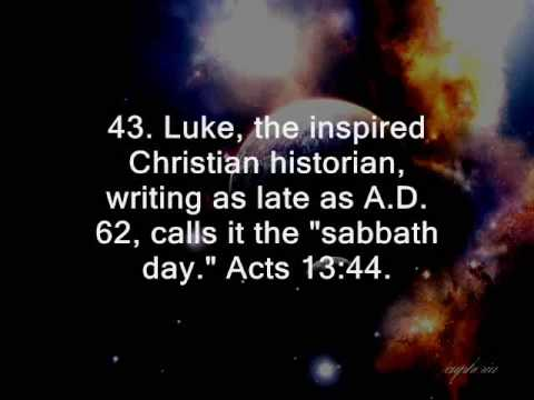60 Bible Facts on the Seventh-Day of the Week
