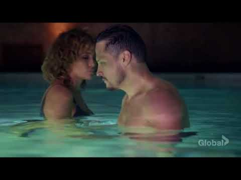 "Jennifer Lopez ""Shades Of Blue"" Sexy Underwear Pool Scene"