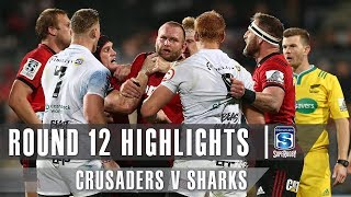 Crusaders v Sharks Rd.12 2019 Super rugby video highlights | Super Rugby Video Highlights