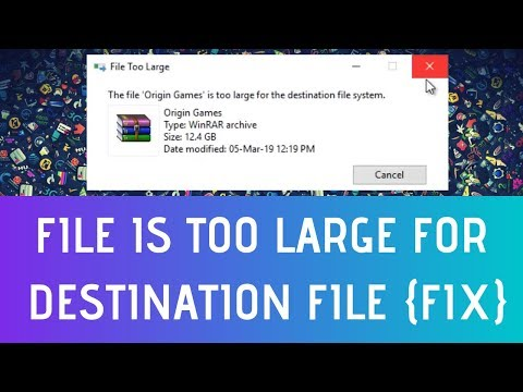 How To Fix File Is Too Large For The Destination File System
