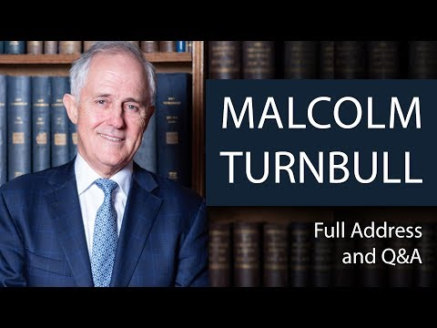 Malcolm Turnbull  Full Address and QampA  Oxford Union