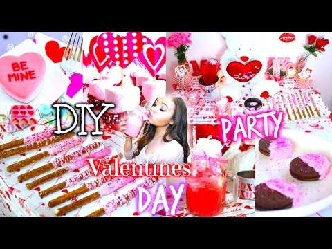 """Valentine's - LETS GET """"DIY Valentines Day Party! DIY Treats,Decorations + More!"""