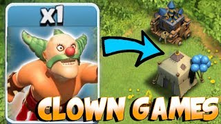 Video CLOWN GAMES RETURNS!!! | Clash Of Clans | TROLL W/ GIANT CANNON! MP3, 3GP, MP4, WEBM, AVI, FLV Februari 2018