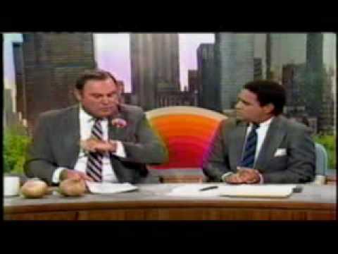 NBC Today Show 1987: 7/6/87 Willard Scott Microphone Blooper