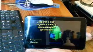 Alcatel onetouch tab 7 android entrar a recovery y restaurar de fab