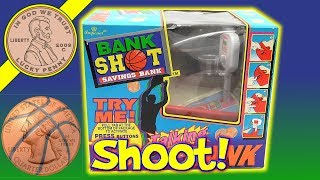 Bank Shot Saving Bank - He Shoots He Saves, Your Change! - I wanted to show this bank on its own because it is do unique compared to other banks I have shown in the past. I like that you can use any coin as long as it is smaller then a US Quarter.  When I first got this I shook the package and heard the plastic piece inside.  I'm glad it was not something that affected how the bank was played.  IF you want to shoot and score, then this is the bank for you.Lucky Penny ThoughtsLPS-DaveLater!▶ About UsLucky Penny Shop is a family-friendly YouTube channel that features videos of kids food maker sets, slime, putty, new & vintage toys, games and candy & food from around the world! There are over 5500 videos!▶ Product InfoBank Shot Saving Bank - He Shoots He Saves, Your Change! - Imperial Toys 1996Visit us online ▶ http://www.luckypennyshop.com/shop/▶ Watch More VideosBanks, Kids Toy Banks & Money Safes Toys & Games - Saving Money https://www.youtube.com/watch?v=DqFJ0x-h90M&list=PL27_x9U5H26soSC95YCcbpEB0R-Lp7Nnq&index=1Fisher-Price Count & Save Bank, 1988 - Save For Your Future!https://www.youtube.com/watch?v=SMFRtNQUw4gKids Toy Coin Bank & Safe - British & USA Coin Collectionhttps://www.youtube.com/watch?v=DqFJ0x-h90MCoca Cola Musical Vending Machine Bank - It's The Real Thing!https://www.youtube.com/watch?v=75srIEhrdt0▶ Follow UsTWITTER  http://twitter.com/luckypennyshop FACEBOOK  http://www.facebook.com/LuckyPennyShopINSTAGRAM  http://instagram.com/LuckyPennyShopGOOGLE+  https://plus.google.com/+luckypennyshopPINTEREST  http://www.pinterest.com/luckypennyshop/LPS WEBSITE  http://www.luckypennyshop.com/Sound Effects by http://audiomicro.com/sound-effectsThis video is not intended as an endorsement of the product shown. We were not paid or provided other non-monetary advantages or incentives to show this product.