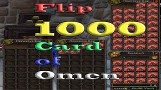 Flipping 1000 Cards of Omen World of Warcraft Chance at 6k!, World of Warcraft, Blizzard Entertainment