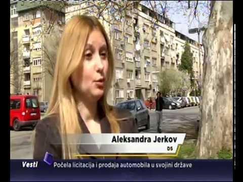 Александра Јерков за Б92 о митингу самоподршке СНС и митингу ДС 25. априла пред Владом Србије