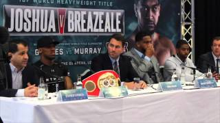 ANTHONY JOSHUA v DOMINIC BREAZEALE PRESS CONFERENCE
