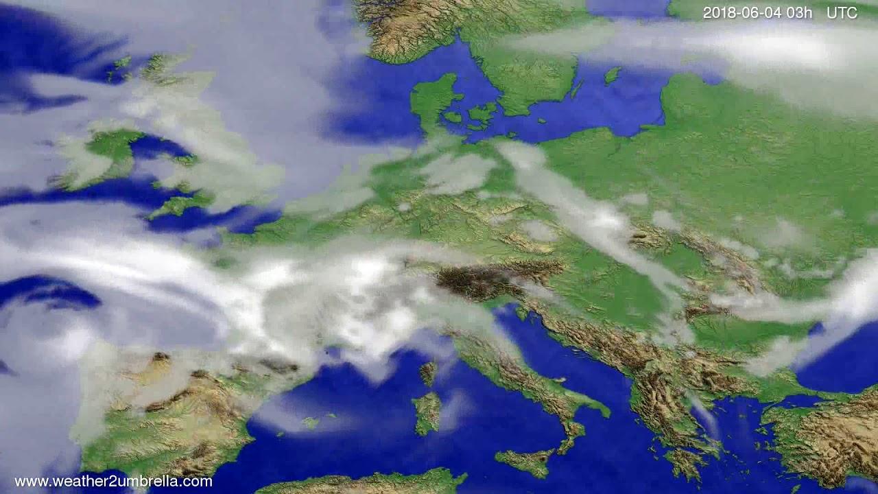 Cloud forecast Europe 2018-06-01
