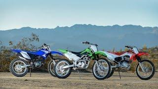 10. Kawasaki KLX140G vs. Honda CRF230F vs. Yamaha TTR230 Battle of the Big Wheels
