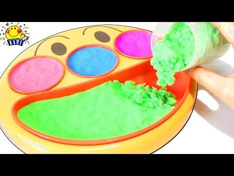 アンパンマン メルちゃん おもちゃ フェイスランチ皿で砂遊び …