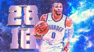 Paul George vs Pacers! Russell Westbrook Triple Double! Pacers vs Thunder 2017-18 Season