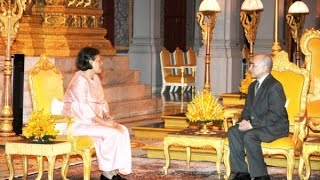 Sirinthon Thailand  city images : Princess Maha Chakri Sirindhorn During The Royal visit to the Kingdom of Cambodia TVK