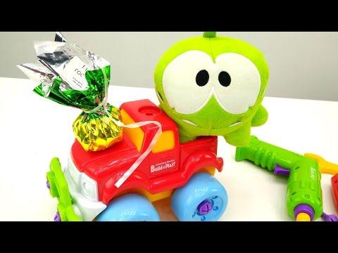 Видео для детей: Ам Ням в автомастерской. Игры Ам Няма. Видео с игрушками АмНям