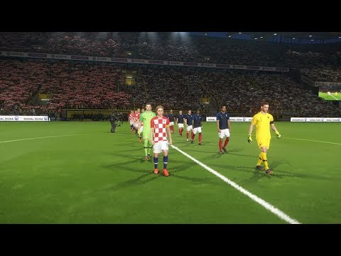 PES 2018 2018 FIFA World Cup Final (France vs Croatia Gameplay)