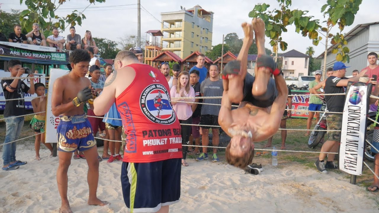 Wrestler vs Muay Thai fighter, Phuket MMA