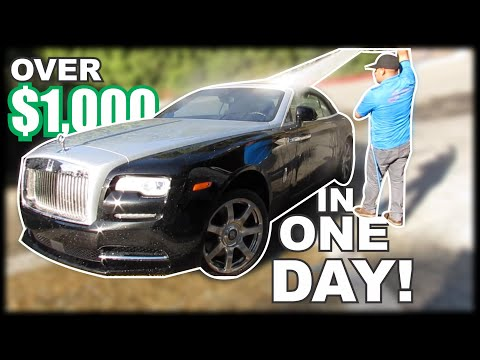 (INSANE) How Much A Car Detailing Business Makes IN ONE DAY!