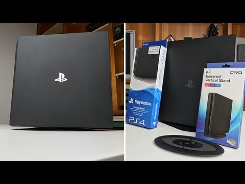 Originaler Sony Standfuß & schwarze Alternative für PS4 Pro & Slim - Dr. UnboxKing - Deutsch