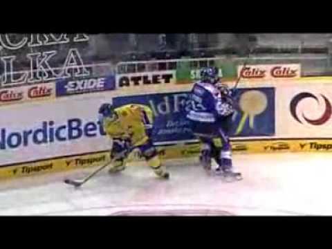Ice Hockey Finnish National Team Player Hammering Referee
