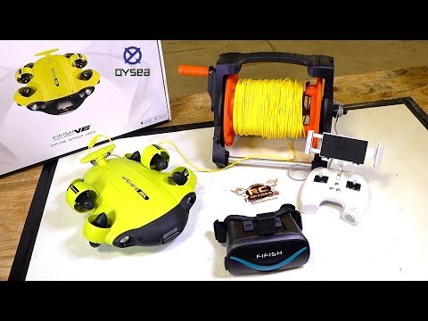 Unboxing A NEW TREASURE HUNTER! 2019 QYSEA FiFish V6 ROBOTIC 4K CAMERA SUB | RC ADVENTURES
