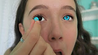 Video I Try 4 Creepy & Creative COLOR Contact Lenses ... See The Looks! FionaFrills MP3, 3GP, MP4, WEBM, AVI, FLV Juni 2018