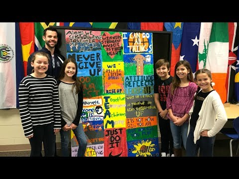 Webster Elementary 5th Grade Motivational Canvas Project