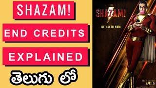 Shazam End Scene And Post Credits Scenes Explained In Telugu | Shazam End Credits Explained