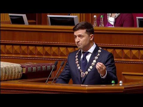 Ukraine: Präsident Wolodymyr Selenskyj wurde vereidig ...