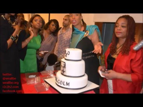 Malcolm X's Daughters, Family, Friends & Admirers SINg Happy Birthday Stevie Style To Bro  Malcolm X