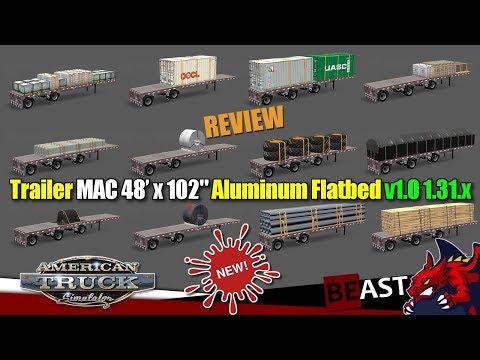 Trailer MAC 48 x 102 Aluminum Flatbed v1.0 1.31.x
