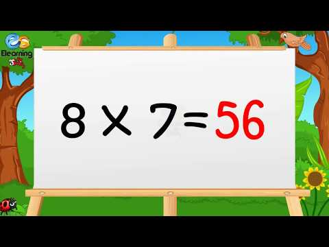 Learn Multiplication Table Of Eight  8 X 1 = 8 - 8 Times Tables
