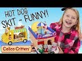 Bad Baby Elephants Break Hot Dog Stand Skit Calico Critters Kids Cruise