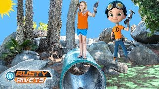 Help the Assistant fix the park with Rusty Rivets! Please Subscribe Here http://www.youtube.com/user/TheEngineeringFamily?sub_confirmation=1Check out our second channel - https://www.youtube.com/channel/UCPC55dCdzIjNJd421LbK3uwIn this The Engineering Family kids outdoor play video The Assistant is at the park with Mr. Engineer and her Rusty Rivets tool set! She's ready to fix the park up! Can you help her find the tools at the park she needs on this fun scavenger hunt?Check out some of these other fun TheEngineeringFamily Treasure HuntsDISNEY SURPRISE TREASURE Secret Surprise Treasure with the Assistant a Disney World Video Surprise   https://youtu.be/a3c5pAJ-o-kPJ MASKS Disney Search For PJ Masks with Blaze and Paw Patrol Video  Adventure   https://youtu.be/4mV2sNE14PgAssistant Slip N Slide Bounce House Carnival Challenge Surprise Toys Video  https://youtu.be/HKE2lCvb6fMASSISTANT TREASURE HUNT Paw Patrol Look Out Hunt + toysZootopia + Lion Guard Toys Surprise Video  https://youtu.be/ECgPK35Gw3wOr these Playlists!  Funny Kids Videos     https://www.youtube.com/playlist?list=PLoLQ9unpi4OHXhaMeWT2y6P27pbuzKbckFeaturing the Assistant   https://www.youtube.com/playlist?list=PLoLQ9unpi4OGfgjxJsWnO878aLXo2TgXHAbout The Engineering FamilyWe are The Engineering Family, a family of educators working to show you how to make learning fun and engaging through toy unboxings, toy reviews, and original series designed to insight imaginative play within your family. With Mr. Engineer as an experienced engineer with a love of exploring new things, Mrs. Engineer an award winning teacher with a math and counseling focus, and their daughter The Assistant you can think of The Engineering channel as your imagination station. You can think of The Engineering Family channel as a Funbrain meets YouTube. This family is taking some of the coolest toys like Paw Patrol, Shimmer and Shine, Scooby Doo, PJ Masks, Doc Mcstuffins, and plenty of fun Real Life live action videos that help teach children valuable STEM content. As always... TheEngineeringFamily only features 100% suitable family fun entertainment.