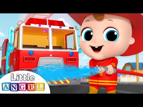 Firefighter and Fire Truck to the Rescue! | Firetruck Song | Nursery Rhymes by Little Angel - Thời lượng: 3 phút, 52 giây.