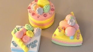 Play-Doh Japanese Paper Clay Glitter Cakes DIY - YouTube
