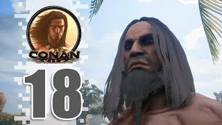 THE DREGS! - EP18 - Conan Exiles (Removing The Bracelet)