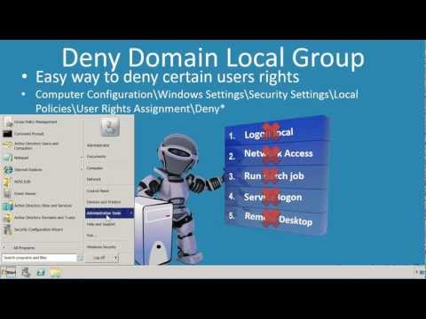 MCITP 70-640: Deny Domain Local Group