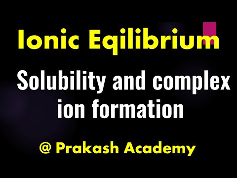 Physikalische Chemie-Ionischer Gleichgewicht-Problem-Löslichkeit und komplexe Ionenbildung