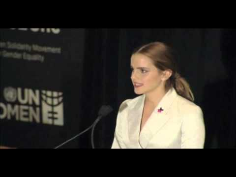 Nations - UN Women Global Goodwill Ambassador, Emma Watson, delivers her moving remarks during the HeForShe Special Event at United Nations Headquarters in New York on...